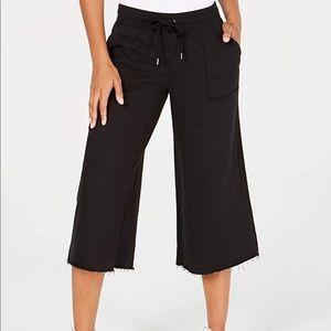 Ideology Cropped Wide-Leg Pants Classic Black